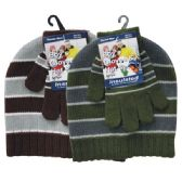 36 Units of Winter Set Hat & Glove Boys - Winter Sets Scarves , Hats & Gloves