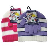36 Units of Winter Set Hat & Glove Girls - Winter Sets Scarves , Hats & Gloves