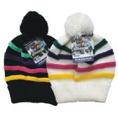 24 Units of Winter Ladies Pom Pom Hat Lines