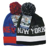 24 Units of Winter Pom Pom Hat Cuff NY