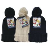 24 Units of Winter Ladies Pom Pom Hat Knit