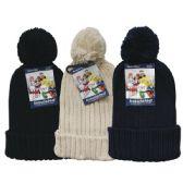 24 Units of Winter Ladies Pom Pom Hat Knit