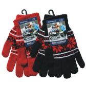 36 Units of Winter Ladies Knit Glove Snowflake - Winter Gloves