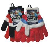 36 Units of Winter Ladies Knit Glove Stripes - Winter Gloves
