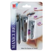 96 Units of Manicure Set Card Display 3pk - Cosmetics