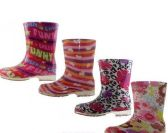 24 Units of Children's Printed Rain Boots