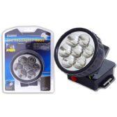 48 Units of 7 Led Headlight W/Strap - Flash Lights