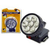 48 Units of LED LIGHT 7 HEAD W/BLACK STRAP - Flash Lights