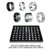 144 Units of STAINLESS STEEL RINGS - Rings