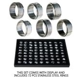 144 Units of STAINLESS STEEL SPINNER RINGS - Rings
