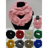 Wholesale Bulk Knitted Infinity Scarf [Ruffled]