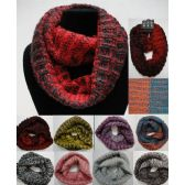Wholesale Bulk Knitted Infinity Scarf [Two-Color Variegated]