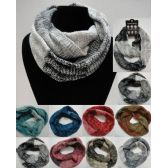 Wholesale Bulk Knitted Infinity Scarf [Variegated Zig-Zag]