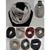 Wholesale Bulk Knitted Infinity Scarf [Variegated]