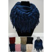 Wholesale Bulk Knitted Infinity Scarf w Fringe [Chevron w Sequins]