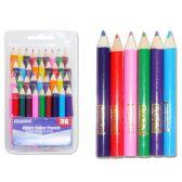 72 Units of 36 Piece Short Color Pencil Set - Pencils