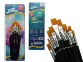 Wholesale Bulk Artist Brushes 9pc Black Clr