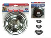 144 Units of 3pc Stainless Steel Bowls - Dinnerware > Bowls