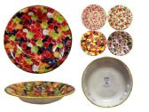 60 Units of Round Serving Bowl With Gold Trim