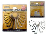72 Units of 2pc Hex Key Set - Hex Keys