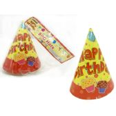 "96 Units of Hats Party 8pc 6.3"" - Party Favors"