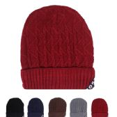 24 Units of Ladies Winter Fashion Beanie Hat Assorted Colors - Winter Beanie Hats