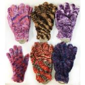 36 Units of Lady's Girls' Fuzzy Magic Gloves - Knitted Stretch Gloves