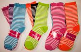 36 Units of Women's Bright Color Stripes - Womens Crew Sock