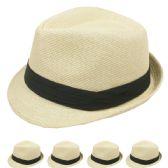 24 Units of FEDORA HAT BEIGE COLOR - Fedoras, Driver Caps & Visor