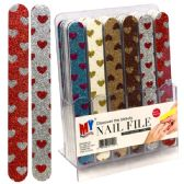 48 Units of Nail File Small Heart Display