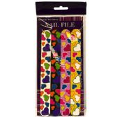 72 Units of Nail File 4PK Heart Print - Cosmetics