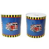 72 Units of Tin Saving Bank Fighting Truck - Coin Holders/Banks/Counter