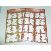 144 Units of Xmas Glitter Gift Tags - Christmas Gift Bags