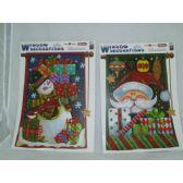 144 Units of Xmas Window Deco - GLITTTERS - Christmas Decorations