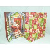 "144 Units of Xmas Glitter Bag - 10-1/4 x 12-3/4x5"" - Christmas Gift Bags"