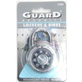 72 Units of Combination Locks - PADLOCKS/IRON/BRASS/COMBO
