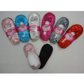 24 Units of Fleece-Lined Footies [Sequins] - Womens Slipper Sock