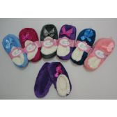 24 Units of Fleece-Lined Footies [Super Soft] - Womens Slipper Sock