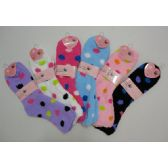 144 Units of Fuzzy Socks 9-11 [Polka Dots]