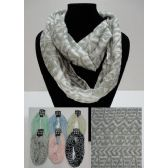 12 Units of Light Weight Infinity Scarf [Pattern Print] - Womens Fashion Scarves