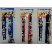 12 Units of Zebra Print Collar & Leash Combo