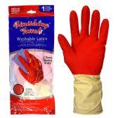 72 Units of Latex Glove HD 2 Tone Medium - Working Gloves