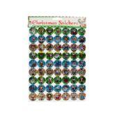 144 Units of Holographic Christmas Stickers Set - Christmas Novelties
