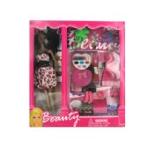 6 Units of Black Fashion Doll with Dress and Accessories