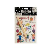 144 Units of Birthday with Sayings Rub-On Transfers - SCRAPBOOK ACCESSORIES
