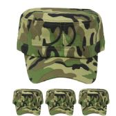 24 Units of Camouflage Baseball Cap - Trapper Hats