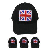 24 Units of BRITISH FLAG BASEBALL CAP - Baseball Caps & Snap Backs