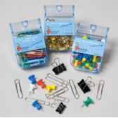 120 Units of Office Supply Shppr 8ast Boxed Ppr/bndr Clip/tack/pins Stationary 120pc Flr Display - School Supply Kits
