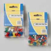 96 Units of 100 Piece Push Pins - Sewing Supplies