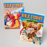 24 Units of Bible Stories Read And Color 2 Asstd Easy Tear Out Pages In 24 Ct - Coloring Books